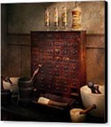 Pharmacist - Organizing Powder Canvas Print by Mike Savad
