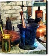 Pharmacist - Three Mortar And Pestles Canvas Print by Susan Savad