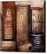Pharmacy - Cures For The Bowels Canvas Print by Mike Savad