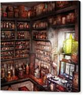 Pharmacy - Equipment - Merlin's Study Canvas Print by Mike Savad