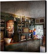 Pharmacy - Morning Preparations Canvas Print by Mike Savad