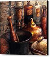 Pharmacy - Pestle - Pharmacology Canvas Print by Mike Savad
