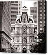 Philadelphia City Hall Canvas Print by Olivier Le Queinec