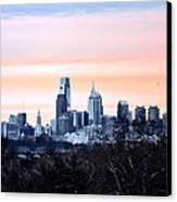 Philadelphia From Belmont Plateau Canvas Print by Bill Cannon