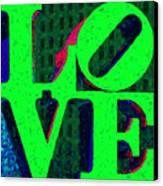 Philadelphia Love - Painterly V3 Canvas Print by Wingsdomain Art and Photography