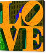 Philadelphia Love - Painterly V4 Canvas Print by Wingsdomain Art and Photography