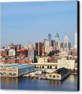 Philadelphia River View Canvas Print by Bill Cannon