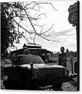 Phillips 66 Ranchero And Pumps Canvas Print by Kim Galluzzo Wozniak