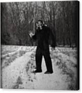 Photographic Evidence Of Big Foot Canvas Print by Edward Fielding