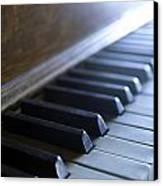 Piano Keys Canvas Print by Jon Neidert