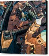 Piazza Ravegnana Canvas Print by Luis Alvarenga