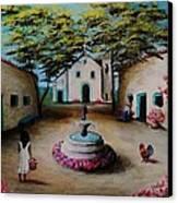 Picturesque Spanish Village Canvas Print