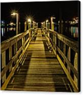 Pier Into The Night Canvas Print