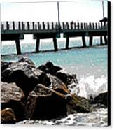 Pier Poster Canvas Print by Sharon McLain