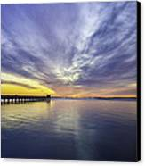 Pier Sunrise Canvas Print by Vicki Jauron