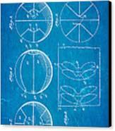 Pierce Basketball Patent Art 1929 Blueprint Canvas Print by Ian Monk