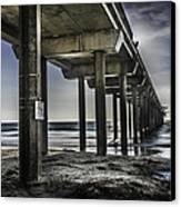 Piers At La Jolla California. Canvas Print by Israel Marino