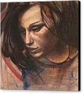 Pietro Annigoni-study Of Eva Canvas Print by Svetlana Rudakovskaya