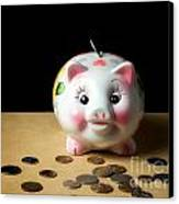 Piggy Bank Canvas Print by Sinisa Botas