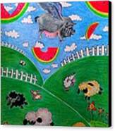 Pigs Can't Fly Canvas Print by Denisse Del Mar Guevara