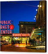 Pike Place Market Canvas Print by Inge Johnsson