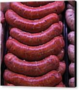 Pile Of Sausages - 5d20694 Canvas Print by Wingsdomain Art and Photography