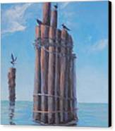 Pilings   Canvas Print by Rich Kuhn
