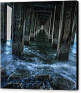 Pillars In San Francisco California... Canvas Print by Israel Marino
