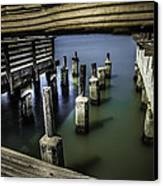 Pillars Over Pier 39 Waters... Canvas Print by Israel Marino