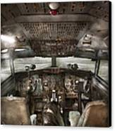 Pilot - Boeing 707  - Cockpit - We Need A Pilot Or Two Canvas Print
