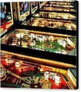 Pinball Arcade Canvas Print by Benjamin Yeager
