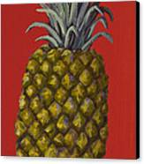 Pineapple On Red Canvas Print