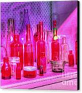 Pink And Red Bottles Canvas Print