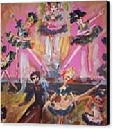 Pink Apple Waltz Canvas Print by Judith Desrosiers