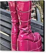 Pink Boots Canvas Print by Jasna Buncic