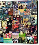 Pink Floyd Collage II Canvas Print by Taylan Apukovska