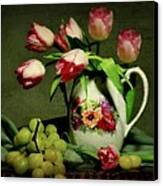 Pink In A Pitcher Canvas Print by Diana Angstadt