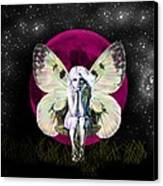 Pink Moon Fairy Canvas Print by Diana Shively