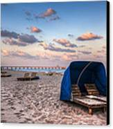 Pink Sands Canvas Print by Debra and Dave Vanderlaan