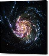 Pinwheel Galaxy Rainbow Canvas Print