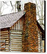 Pioneer Log Cabin Chimney Canvas Print