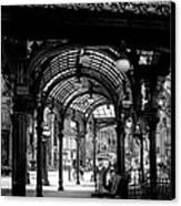 Pioneer Square Pergola Canvas Print by David Patterson