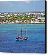 Pirate Ship In Cozumel Canvas Print by Aimee L Maher Photography and Art Visit ALMGallerydotcom