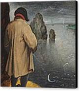 Pissing At The Moon  Canvas Print by Pieter the Younger Brueghel