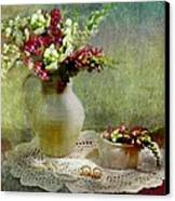 Pitcher Of Snapdragons Canvas Print by Diana Angstadt