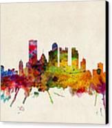 Pittsburgh Pennsylvania Skyline Canvas Print by Michael Tompsett