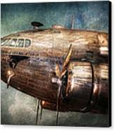 Plane - Pilot - The Flying Cloud  Canvas Print by Mike Savad