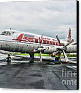Plane Props On Capital Airlines Canvas Print by Paul Ward