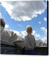 Plane Viewing From The Truck Bed Canvas Print by Sheri Lauren Schmidt