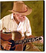 Play Guitar Play Canvas Print by Sharon Burger